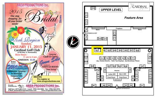 COME VISIT US AT THE YORK REGION BRIDAL SHOW – JANUARY 11TH, 2015