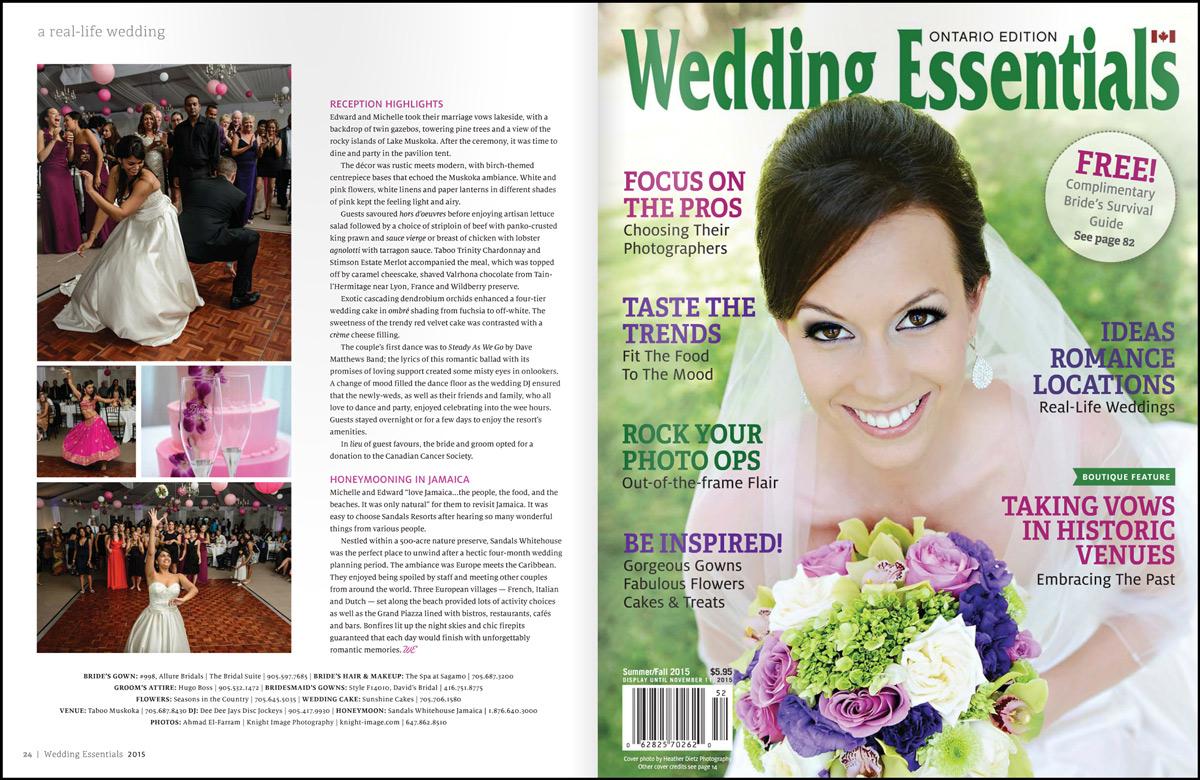 Wedding Essentials Magazine Publishes M+E Taboo Resort Wedding